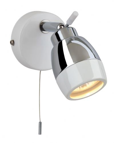 Firstlight 8201WH White with Chrome Marine Single Spot (Switched)